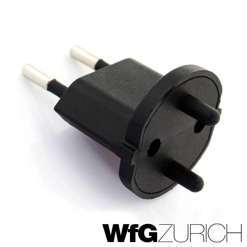 permanent fix adapter stecker schuko typ f cee 7 zu schweiz t11 fixadapter 2 polig. Black Bedroom Furniture Sets. Home Design Ideas