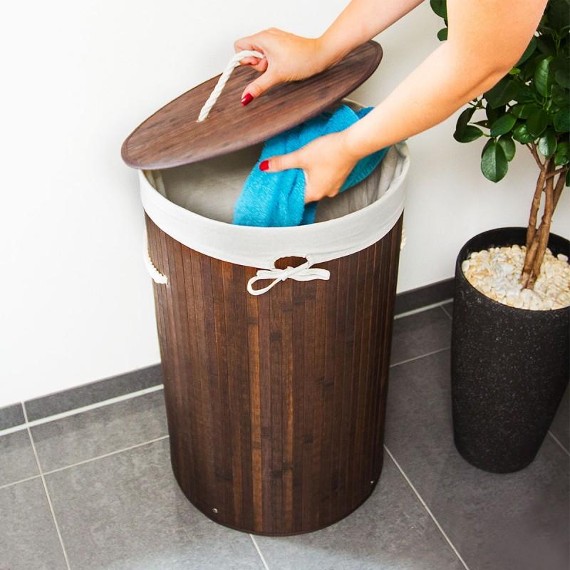 w schebox w schekorb w schesammler bambus rund natur grau braun weiss oder schwarz haushalt. Black Bedroom Furniture Sets. Home Design Ideas