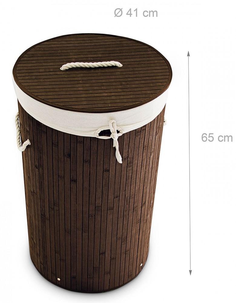 Wäschekorb Holz wäschebox wäschekorb wäschesammler bambus rund natur grau oder