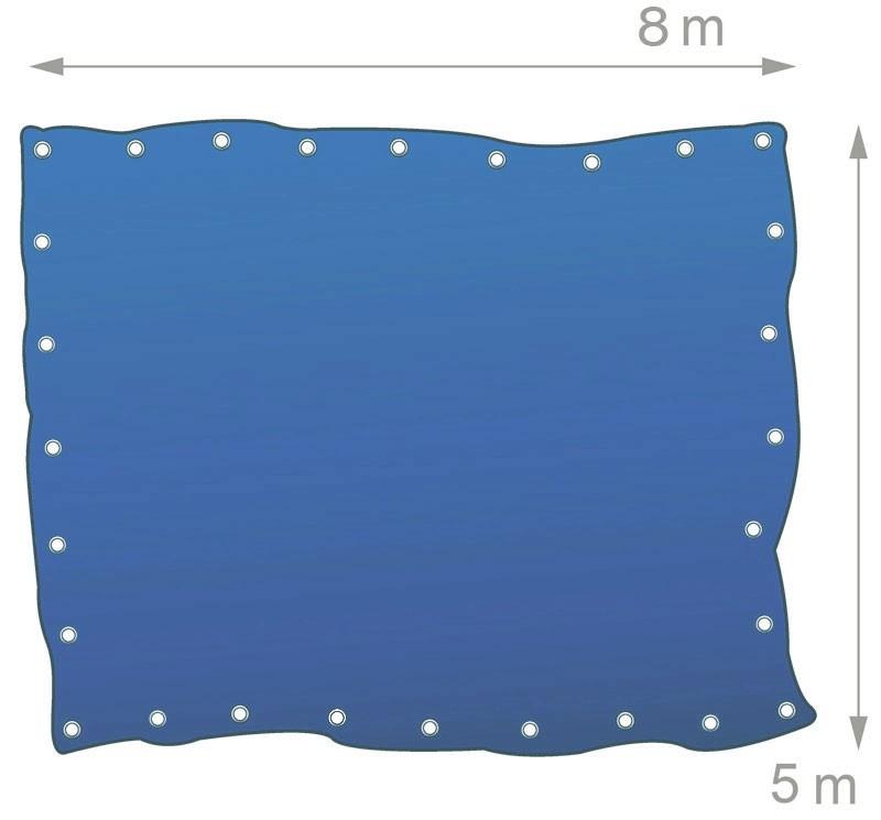 gewebeplane abdeckplane blache plane mit sen 8 5m blau. Black Bedroom Furniture Sets. Home Design Ideas