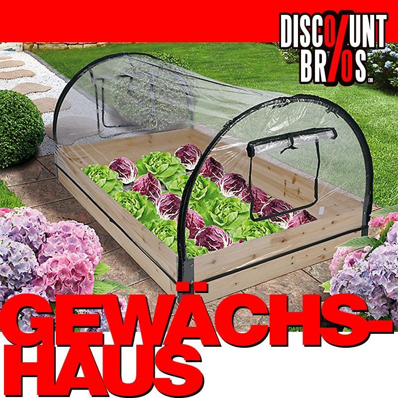 Foliengewächshaus GEWÄCHSHAUS Treibhaus mit Holzrahmen 120×80×50cm ...