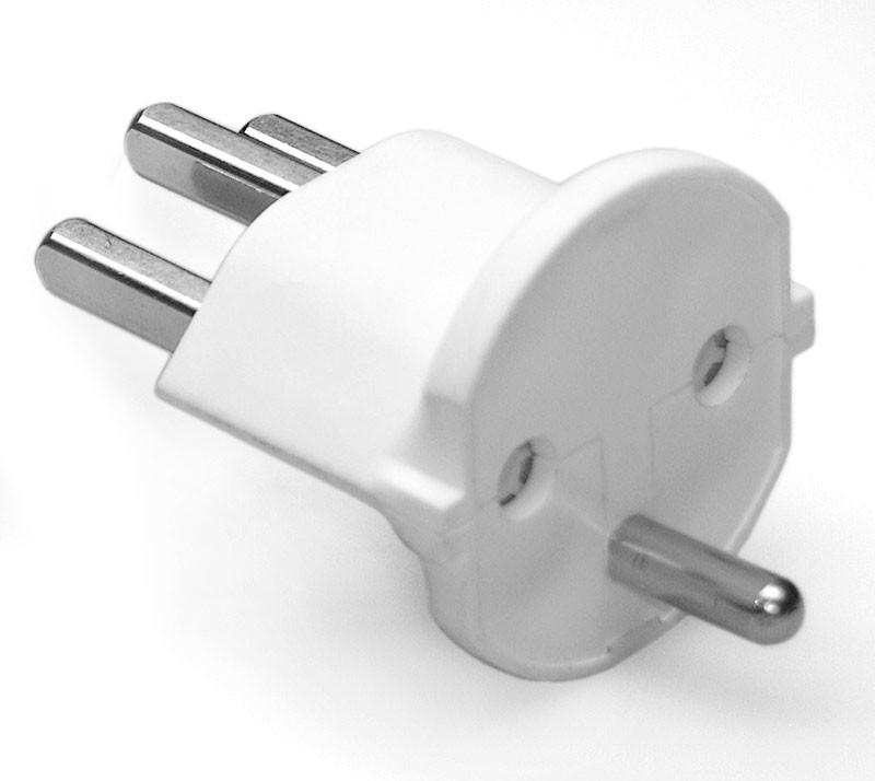 permanent fix adapter stecker schuko typ f cee 7 zu schweiz typ 23 t23 16a weiss bau. Black Bedroom Furniture Sets. Home Design Ideas