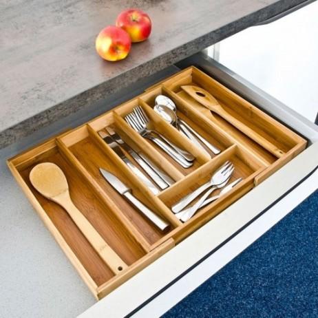 Vario Besteckkasten Schubladeneinsatz Aus Bambus Holz 34