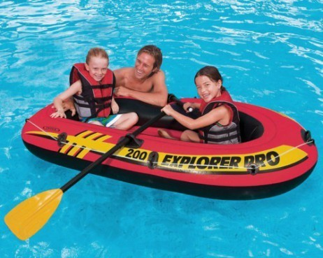 Intex SCHLAUCHBOOT EXPLORER PRO 200 Boat Set + Pumpe + Paddel – Bild 3