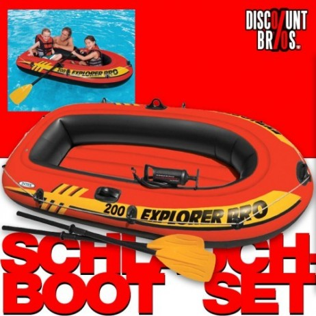 Intex SCHLAUCHBOOT EXPLORER PRO 200 Boat Set + Pumpe + Paddel – Bild 1
