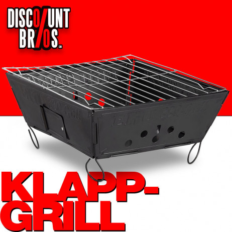 Leichter Holzkohle GRILL Outdoor Klappgrill Faltgrill – Bild 1